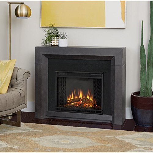 Cheap  Real Flame 3001E-GRY Electric Hughes Fireplace, Medium, Gray