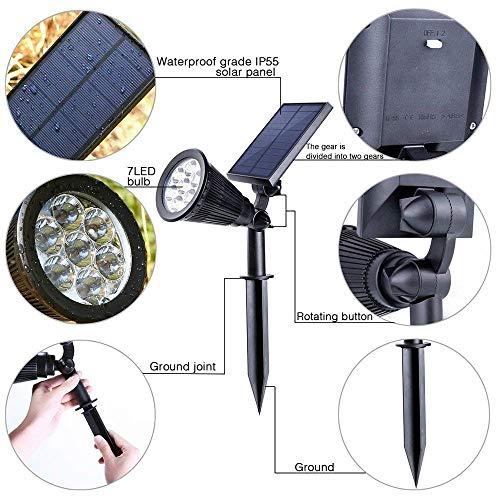 Appreciis 2-in-1 Solar Adjustable Landscape Bright Dark Auto Security Patio (2