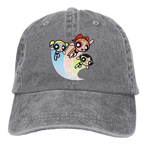 Jeans Hat The Powerpuff Girls Baseball Cap Sports Cap Adult Trucker Hat Mesh Cap Gray]()