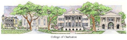 College of Charleston - Collegiate Sculptured Ornament by Sculptured Watercolor Ornaments