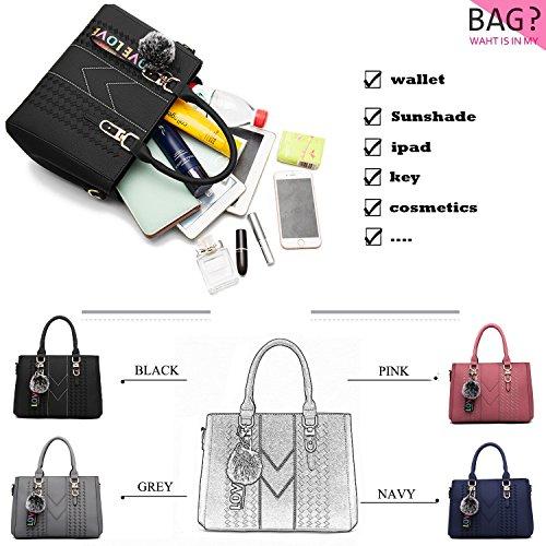 Black Ynique For Bags Women Shoulder And Satchel Handbags a Tote Purses xqzRCq