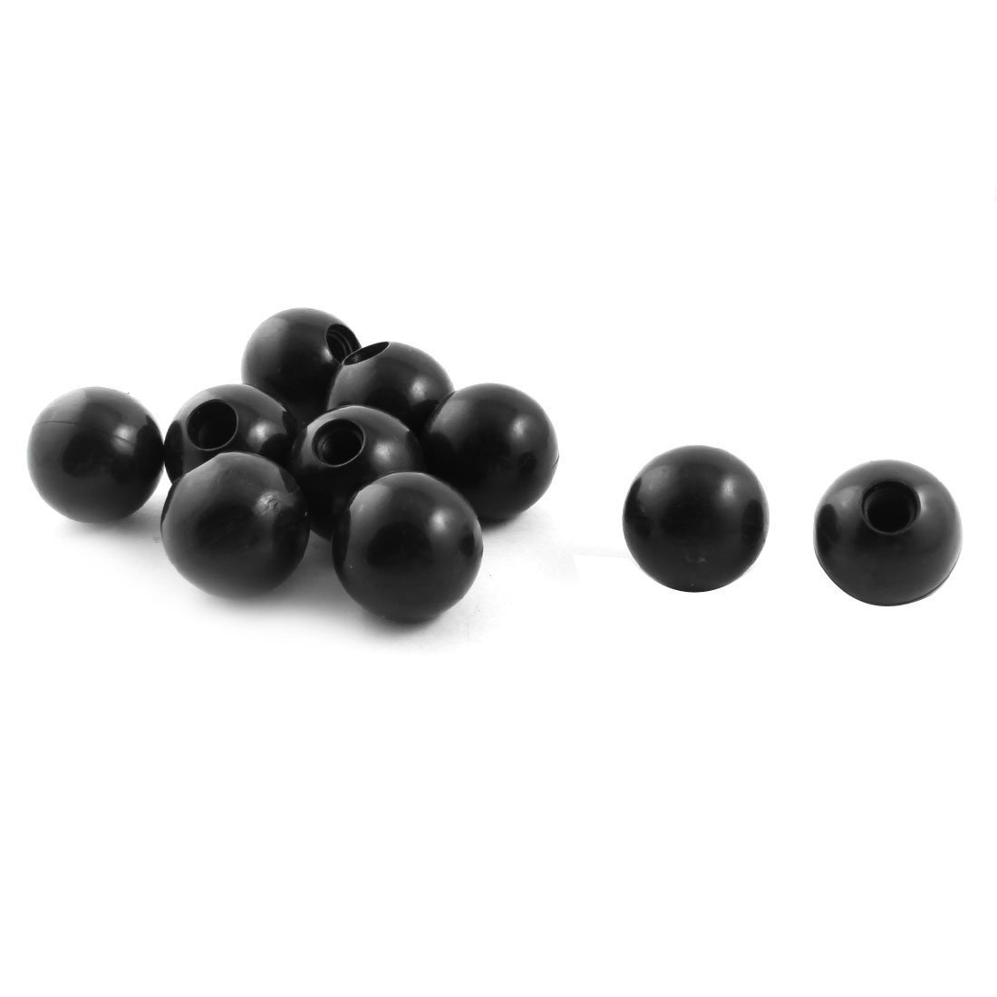 sourcingmap 10Pcs M10 Female Threaded Mounted 32mm Dia Ball Lever Knobs Black a14092200ux1264