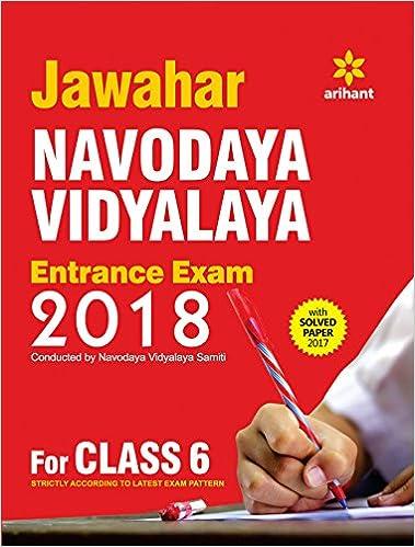 Buy Jawahar Navodaya Vidyalaya Entrance Exam 2018 for Class 6 Book