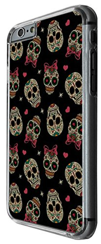 1198 - Male&FemaL Collage Sugar Skulls Design For iphone 5 5S Fashion Trend CASE Back COVER Plastic&Thin Metal -Clear