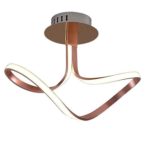 LED moderna moda lámpara de techo sala de estar luz metal ...