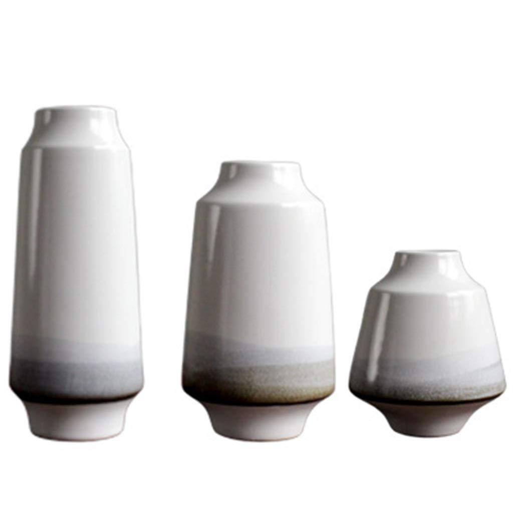 手作りのセラミック花瓶、フラワーアレンジメントホームリビングルーム、オフィス装飾セットに最適3 B07SF682BF