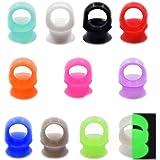 "36pcs/22pcs Soft Silicone Ear Gauges Flesh Tunnels Plugs Stretchers Expander Ear Piercing Jewelry 2g-3/4"""