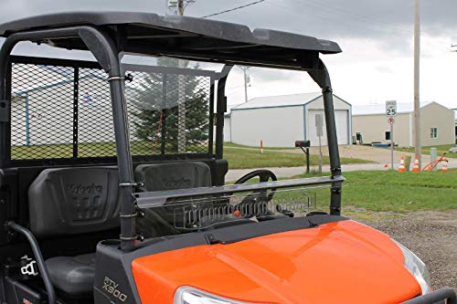(LVMarionAAE Kubota RTV X900 X1120 X1140 2 Piece Full Vented Windshield)
