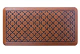 Butterfly Anti-Fatigue 20 x 39 Inch Quatrefoil Kitchen Comfort Mat, Antique