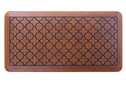 Price comparison product image Butterfly Anti-Fatigue 20 x 39 Inch Quatrefoil Kitchen Comfort Mat, Antique