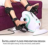 Apelila Adjustable Portable Electric Mini Exercise Bike Pedal Exerciser for Arm and Leg Rehab Work-Out with Remote Control