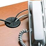 """ANZESER 2""""(50.8mm) Flexible Desk Grommet - Black"""