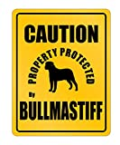 Idakoos - Caution Property Protected By Bullmastiff - Dogs - Parking Sign