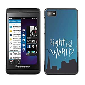 Paccase / Dura PC Caso Funda Carcasa de Protección para - BIBLE Light Of The World - Blackberry Z10