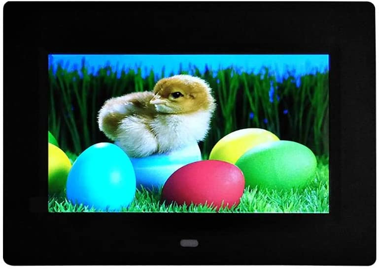 7 Inch Digital Photo Frame Hd Led Picture Frame with Video//Music//Calendar//Clock//USB Remote Control White