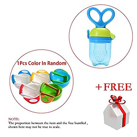 Coreliky Non-toxic BPA Free Baby Silicone Food Feeder , Teeth Nipple Pacifier for 4+ Months Infant Baby with Mash and Serve set Prep Food Bowl For Baby Feeder