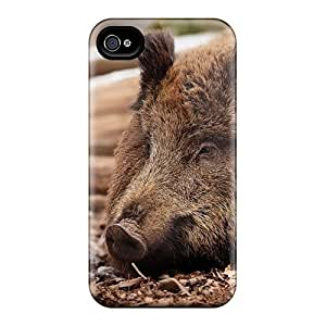 First-class Case Cover For Iphone 4/4s Dual Protection Cover Wild Boar