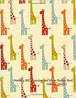Monthly Bill Organizer and Home Budget Book- Colorful ...