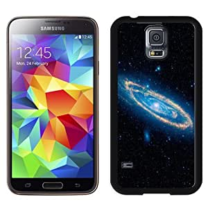 NEW Unique Custom Designed Samsung Galaxy S5 I9600 G900a G900v G900p G900t G900w Phone Case With Swirling Spiral Galaxy_Black Phone Case