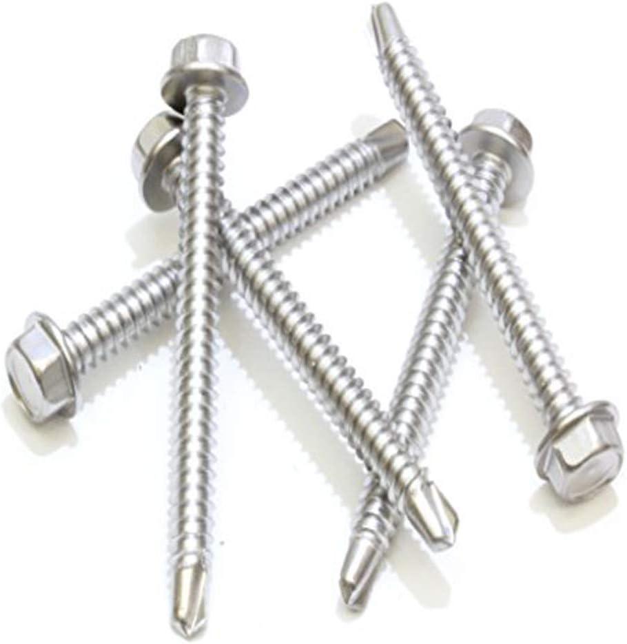 #6 x 1//2 Pan Head Self Drilling Screws 410 Stainless Steel Sheet Metal Screws,Self Tapping 100 PCS by Eastlo Fastener Phillips Drive