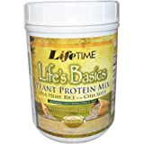 Lifetime Life's Basics Plant Protein Mix Natural Vanilla -- 18.52 oz