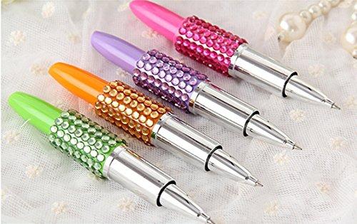 FlashHawk(TM)Lot Of 6 Assorted Color lipstick Shot Design Pens