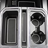2017 2018 2019 for Ford F-150 Custom Fit Cup Holder and Door Liner Accessories F150 28-pc Set (Super Crew) (White Trim)