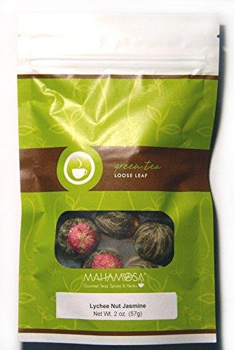 Mahamosa Blooming Display Green Tea Loose Leaf (Looseleaf)- Lychee Nut Jasmine 2 oz, Flowering Tea