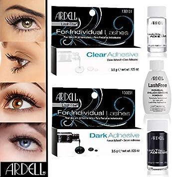 a65bea16228 Lot de 3 Ardell Lash Tite Clear & Dark + Colle cils Ardell Remover ...