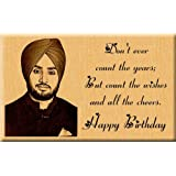 Incredible Gifts India Birthday Gift - Engraved Wooden Photo Plaque (7X4 Inches)