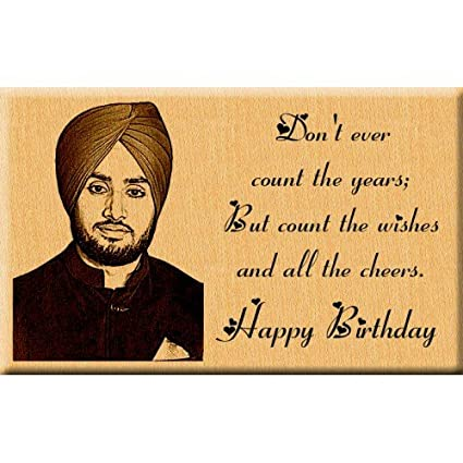 Buy Incredible Gifts India Birthday Gift - Engraved Wooden Photo Plaque (7X4 Inches) Online at Low Prices in India - Amazon.in