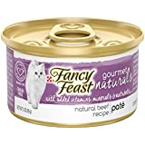 Purina Fancy Feast Gourmet Naturals Grain Free Pate Tender Beef Recipe Adult Wet Cat Food - (12) 3 oz. Cans