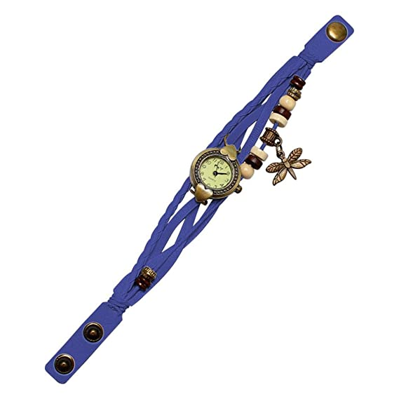 Clearance Sale! Bracelet Watches for Girls, Iuhan Antique Dragonfly Woman Bracelet Hand Ring Wrist