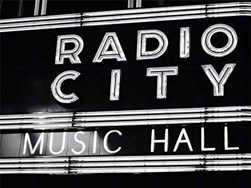 City Radio Hall Photos Music - The Art Stop Photo Painting Music City Radio Hall New York Sign Print F12x9851