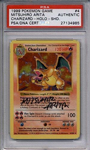 Charizard Shadowless PSA/DNA AUTOGRAPH #4/102 by Mitsuhiro Arita Holo Foil Base Set Photo - Pokemon Gaming