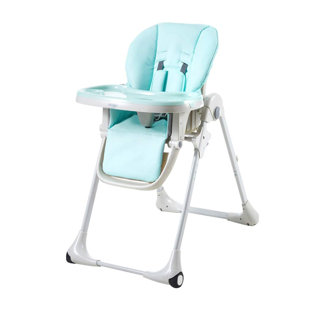 子供のダイニングチェア、折りたたみ調節可能な6 in 1多機能リクライニング装置子供用ハイチェアテーブル高スツール、家庭用、0-3歳の子供用 (色 : B)  B B07L1RDTQ8