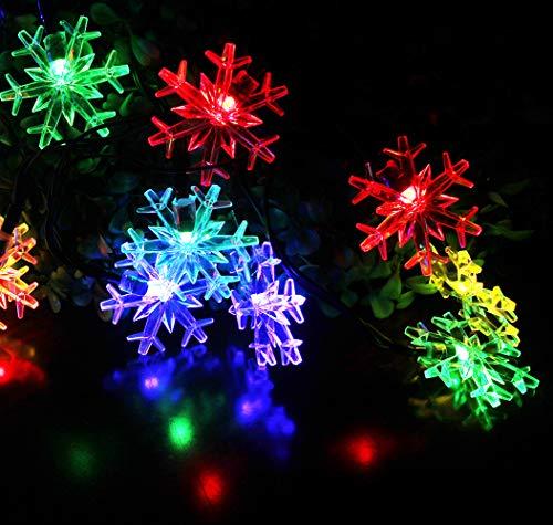 Snowflake Solar Christmas Lights in US - 7