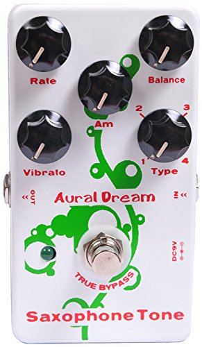 Aural Dream Saxophone Tone Synthesizer Guitar Effects Pedal based on Organ including saxophone 16',saxophone 8',theater saxophone 16' and theater saxophone 8' with vibrato module control (Best Guitar Synthesizer Pedal)