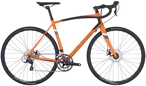 Raleigh Bikes Merit 2 Endurance Road Bike, Orange, 54cm/Medium