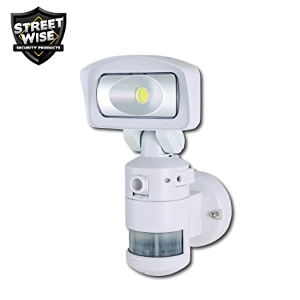 Amazon streetwise security nightwatcher robotic led security streetwise security nightwatcher robotic led security movement tracking light and hd security camera in white aloadofball Choice Image