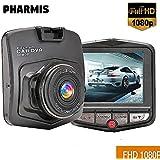 Dash Cam, Autozubehör, Digital FULL HD 1080P Auto Video Recorder, Loop-Aufnahme, Nachtsicht, Integrierte G-Sensor-Technologie, Bewegungserkennung. PHARMIS. Schwarze Farbe
