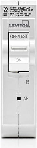Leviton LB115-AF 15 Amp, 1-Pole Plug-on AFCI Branch Circuit Breaker, 120 VAC