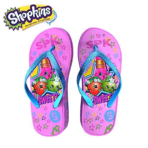Sandals with Sidewall Print in Pink/Sweet, Size 2/3 (Pink Girls Sandals)