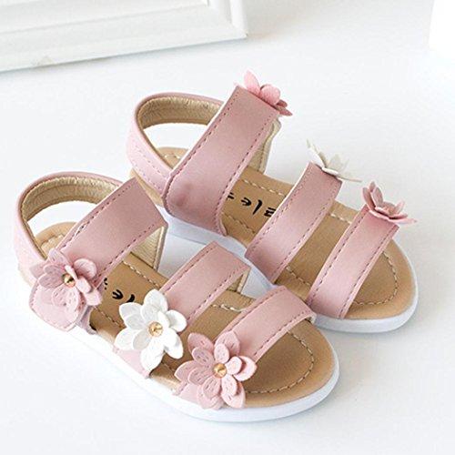 Summer Sandals, Kids | Children Sandals | Fashion Big Flower Girls Flat Pricness Shoes Pink