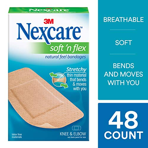 Comfort Flex Bandages - Nexcare Soft 'n Flex Bandages, Made by 3M, 8-Count Packages (Pack of 6)