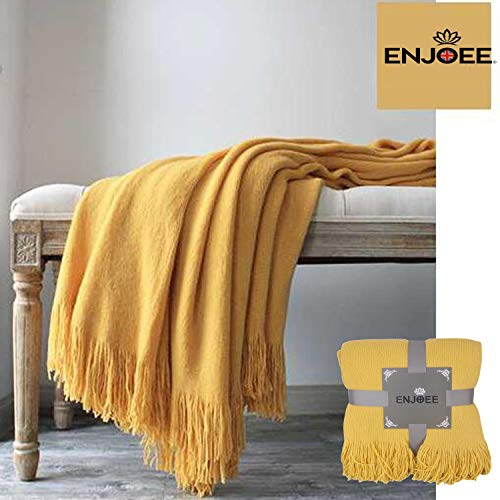 ENJOEE Throw Blanket Lightweight Soft Cozy for Bed or Sofa Decorative Blankets,50