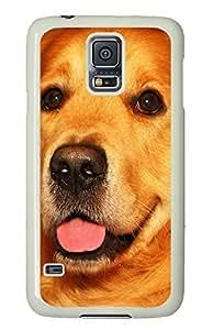White Fashion Case for Samsung Galaxy S5,PC Case Cover for Samsung Galaxy S5 with Cute Dog