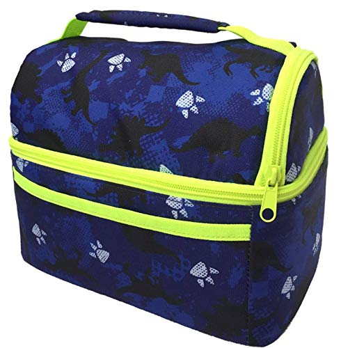 Dinosaur Lunch Bag for Boys | Lunch Box for Kids | Kindergarten Pre-K Insulated Lunch-Bag Lunch-boxes | Blue (Dinosaur Blue Bag)