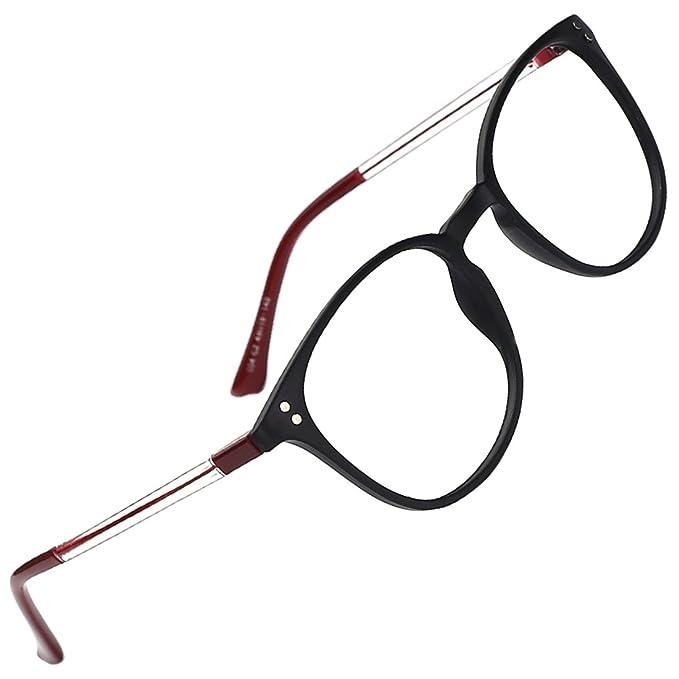 a66595d0f0 Slocyclub - Marco para anteojos unisex con diseño de llave, con patillas  transparentes, Negro