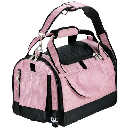 Pet Gear World Traveler with Wheels for Cats and Small Dogs, Pet Carrier, Large, Crystal Pink by Pet Gear